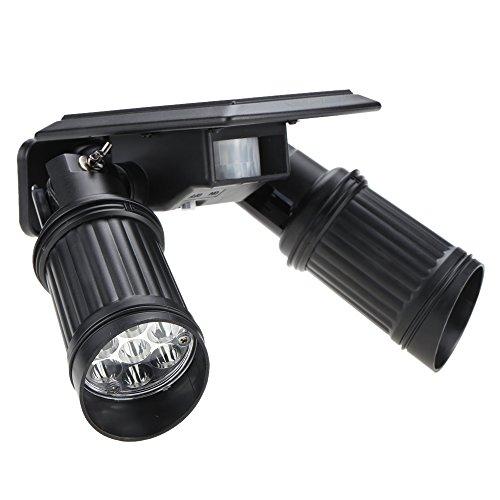 Amorphes Panel (Lixada Solar Scheinwerfer Spotbeleuchtung Bewegung für Dachböden Schlafzimmer Spazierweg Treppenhaus Garage, 14LEDs 150LM PIR Sensor Lampe)
