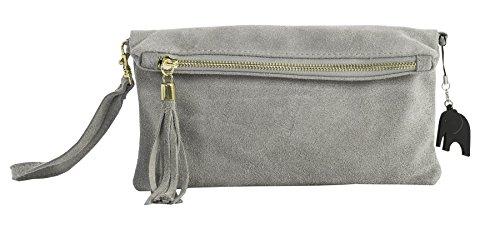 Big Handbag Shop, Borsetta da polso donna Light Grey