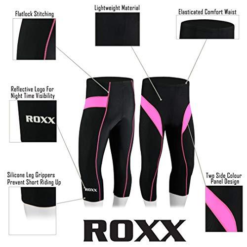 41g4esjwypL. SS500  - ROXX Women's ladies Quality ¾ Three Quarter Legging Cycling Shorts Cool-max ® Padded Outdoor Cycle Tight girl Shorts…
