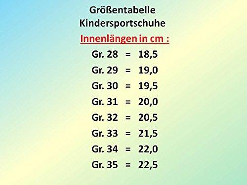 GIBRA® Kinder Sportschuhe, mit Klettverschluss, türkis, Gr. 28-35 Türkis