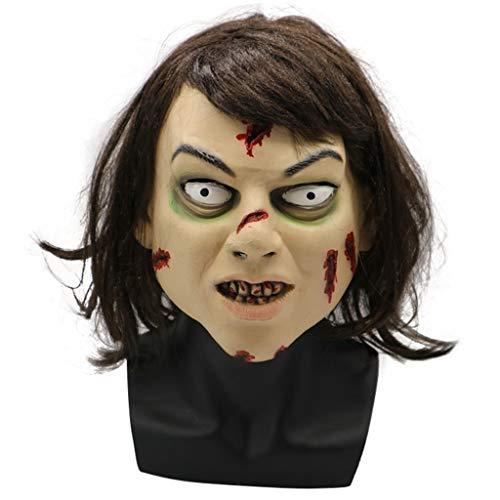 GXDHOME Halloween Latex Kopf Maske, Horror Exorzist Zombie Karneval Party Kostüm Kostüm Spukhaus (eine Größe)