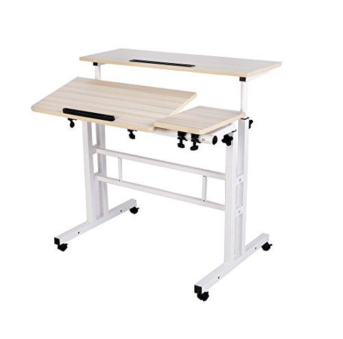 LaCyan Schreibtisch Computertisch Höhenverstellbarer PC Stehpult Tische Bürotisch