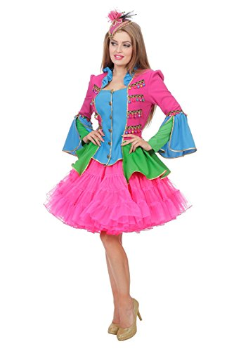 Zirkus Kostüm Jacke Glocken Show Bunt Damen Zirkuskostüm Showkostüm Pink 36-48 (Thema Zirkus Kostüme)