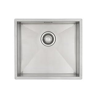Fregadero de un seno Mizzo Design- Fregadero acero inoxidable 40*40 cm – Fregadero bajo encimera -Adaptable a muebles de cocina de 50 cm
