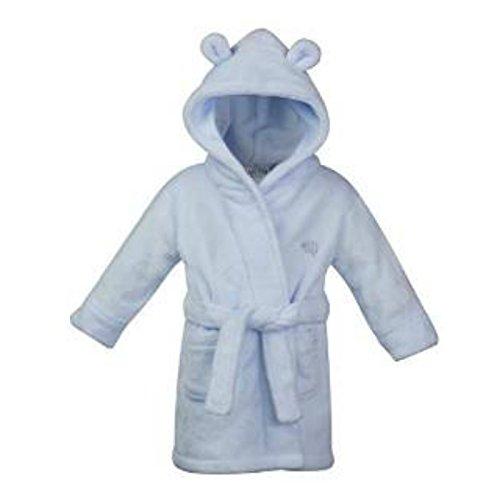 Baby Town–Baby–Albornoz Polar Color Rosa o Azul Azul Blauer Elefant