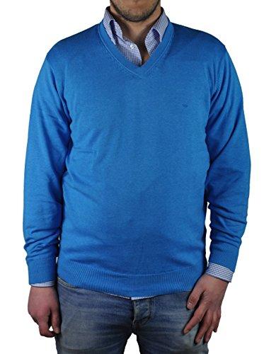 Redmond - Herren Pullover mit V-Ausschnitt in verschiedenen Farben (Art.Nr.: 600) Blau (109)