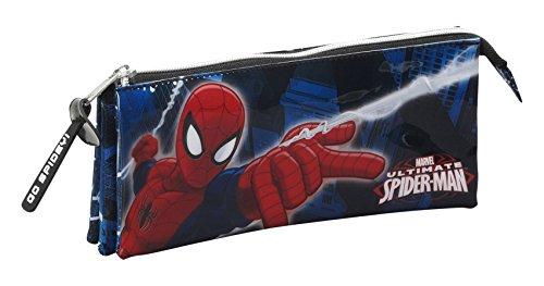 Spiderman – Portatodo Triple, Color Azul (SAFTA 811543744)