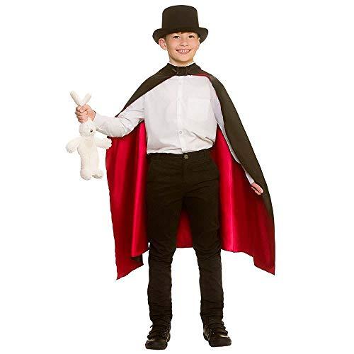 Fancy Kostüm Magician Dress - Magicians Cape Boys & Girls Children Fancy Dress Costume-One Sizes Upto 10 Years