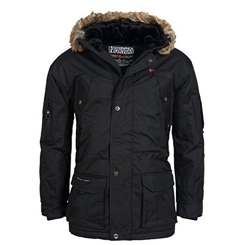 Geographical Norway Atlas Herren Winter Jacke Parka Parker Schwarz Gr. 3XL