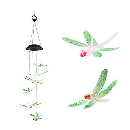 tt RGB LED Solarenergie Außenleuchten Libelle Windspiel IP65 Wasserbeständigkeit Errichtet in 1,2 V 600 mah Hohe Kapazität Akku für Kinder Home Party Nacht Terrasse Hof Dekoration ()