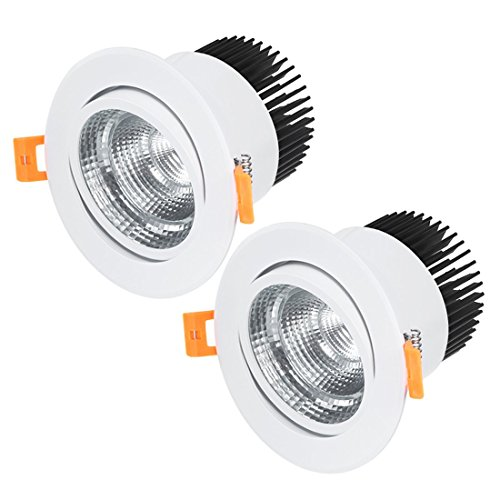 . 20W COB Downlight Housing Recessed Ceiling Light Spotlight Shell White ()