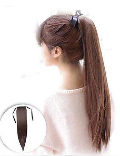 Europäischen Mode Perücken Haar Haar gefälschte gerade Kordelzug Pferdeschwanz Perücke Clip in Pferdeschwanz-Haar-Kostüm natur-lange Schwanz ()