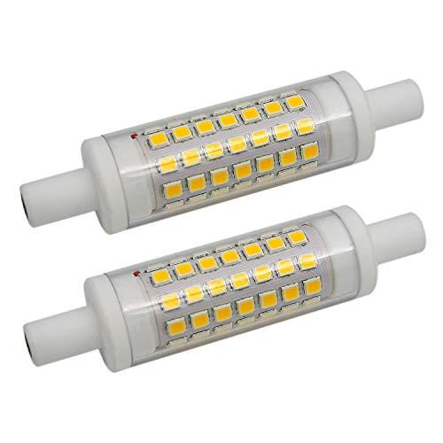 2 Stück R7s 6W 78mm LED Leuchtmittel Keramik 70xSMD2835 Warm Weiß 3000K 480LM Nicht Dimmbar - J Typ Double Ended 60W R7s J78 Leuchtmittel Halogen Ersatz - T3 Halogenlampe 150w