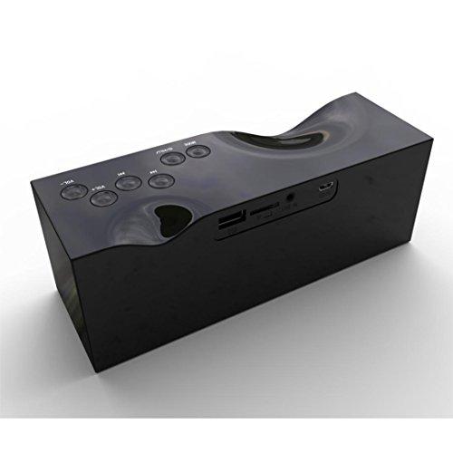 ESAILQ Versteckte LCD Display Tragbare Wireless Bluetooth Stereo Lautsprecher Hand-frei für Smartphone (Schwarz) (Versteckte Mikrofon Wireless)