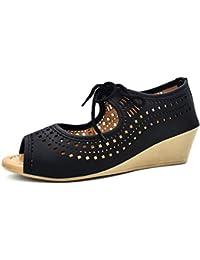 Ziaula Womens Fashion Wedges Heel Sandal in Belly Look