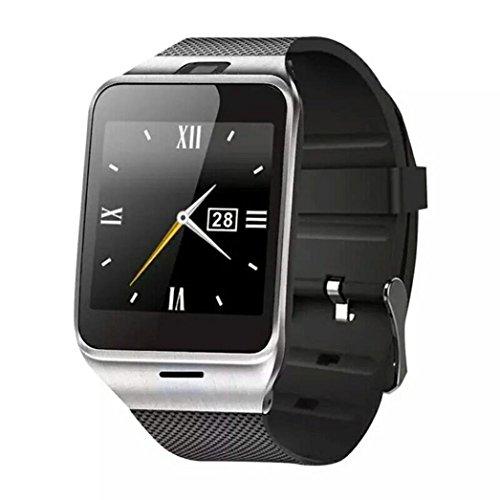 Reloj Inteligente,Xinan GV18 Relojs Bluetooth del Teléfono GSM NFC para Samsung iPhone (Negro)
