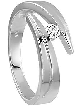 Diamond Line Damen - Ring Gold 1 Diamant ca. 0,12 ct