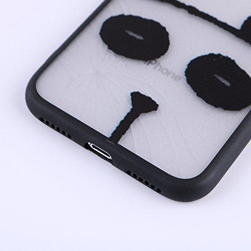 Telefon-Kasten-Panda-Kopf-Form-Nette Schmelzen Ihr Herz-Supermattierte Silk Linie durchlässiges TPU umgebener Harter PC-Base-Telefon-Kasten Shell für iPhone X