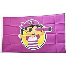 Fahne Flagge Pirat Girl Mädchen 90 x 150 cm