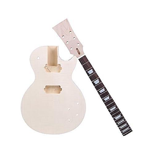Andoer® LP Kit pour guitare électrique DIY, corps en acajou - 6 Kit Completo Del Corpo