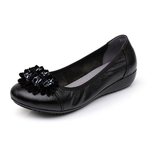 Damen flache Schuhe/Mama und weiche Unterseite Schuhe/Plus size lässige Damenschuhe D