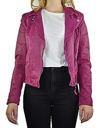 Michaelax-Fashion-Trade Freaky Nation - Damen Lederjacke in Pink, Art. Las 09d2591857