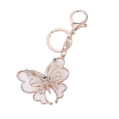AchidistviQ Fashion Schmetterling Strass Legierung Schlüsselanhänger Frauen Schlüsselanhänger Bag Decor zum Aufhängen Handy, Legierung, Butterfly - Mace Fenster