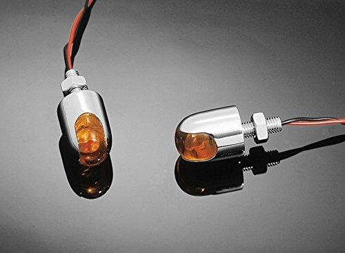 2Mini-LED-Leuchten (Blinker, Umrissleuchten), Motorrad & Trike, Chrom