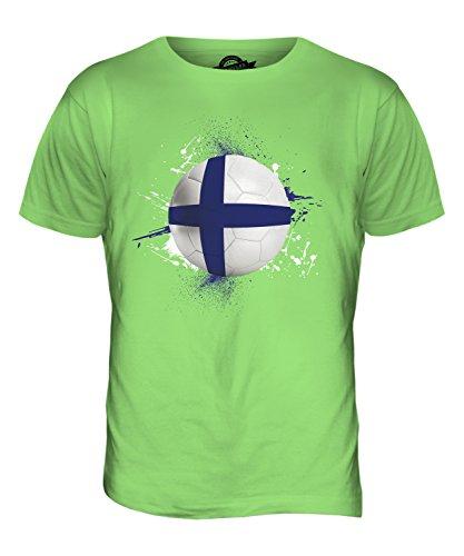 CandyMix Finnland Fußball Herren T Shirt Limettengrün