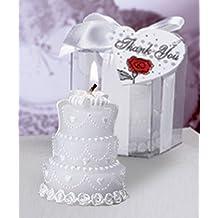 Lote de 24 Velas Pastel Novios - Velas Recuerdos Invitadas Bodas, Recuerdos para Detalles de Bodas y Regalos