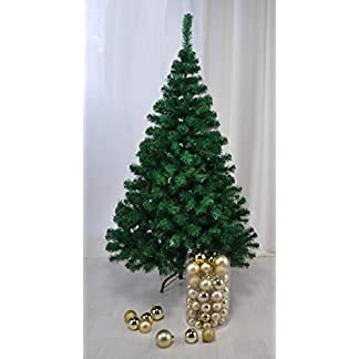 Christbaum-in-grn-180-CM-hoch-Weihnachtsbaum-Tannenbaum-Kunststoff-mit-Stnder