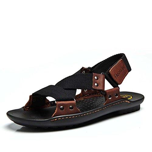 ZXCV Chaussures de plein air Chaussures de plage occasionnelles pour sandales pour hommes ( Couleur : Vert , taille : 44 ) Noir