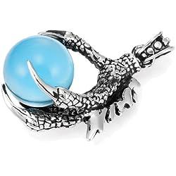 Collar de Garra de Dragón con gema cadena de 54 cm acero inoxidable