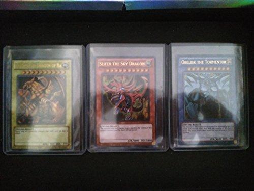 YuGiOh Legendary Collection - Juego de 3 tarjetas de dios egipcios, diseño de dios
