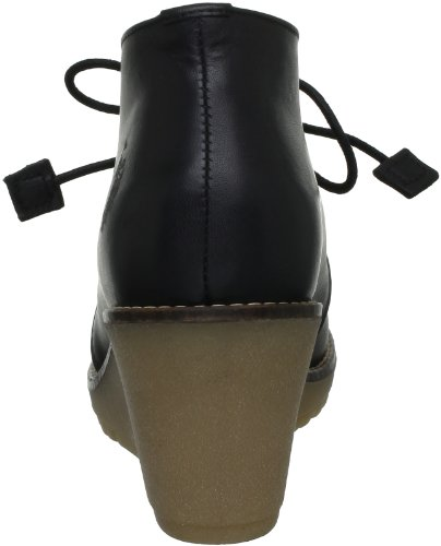 U.S.POLO ASSN. Cari Leather, Stivaletti Donna Nero  (Noir (Blk))