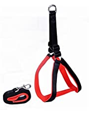 Paws For A Cause High Quality Nylon With Red Padding Dog Harness 1.25 Inch Black