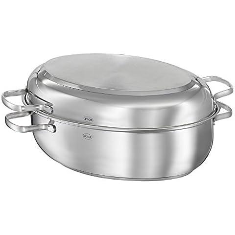 Rösle Elegance–Rostiera ovale con coperchio, Padella per pesce, antihaftve rsieglung, induzione, 8l, 13152