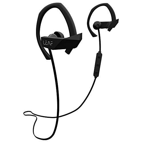 Leaf Sport Wireless Bluetooth Earphone with Mic and Sports Earhook, Bluetooth Headset with 6 Hours Battery Life and Deep Bass (Black)