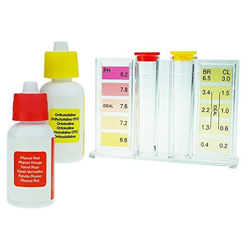 TekcoPlus 2 in 1 Qualitäts-Wasser-Tester HydroTools Ph CL2 Chlor-Test-Kit - Sofort-Ergebnis-Chlor-pH-Wert mit Tragetasche