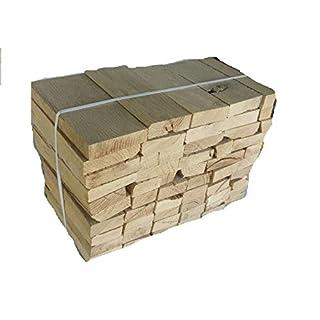BlackSellig 24 Kg Brennholz Extra für Kleine Kamine, Öfen, Bolleröfen Reine Eiche ohne Rinde, sauber, trocken, Einfaches Stapeln