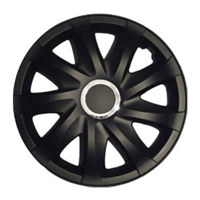 "Lot de 4enjoliveurs DRF Noir mat 16""compatible avec Volkswagen VW Corrado, Fox, Golf 2, 3, 4, Cabrio, VENTO, JETTA"
