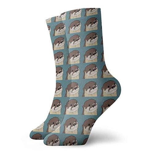 okstore1988 Womens Otter Pattern Art gedruckt lustige Neuheit Casual Socken