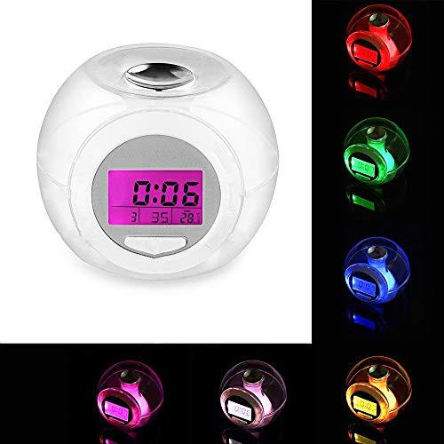 Zensinc Despertadores Digital Multifuncional 7 Luz Colorida ...