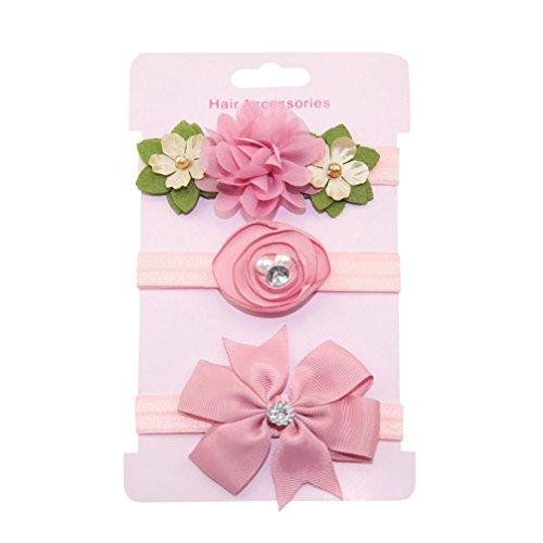 Haarnadel, erthome 3Pcs Kinder Blumen Stirnband Mädchen Baby Bowknot Hairband Set Haar Clips (A) - Carters Baby Girls Kleid