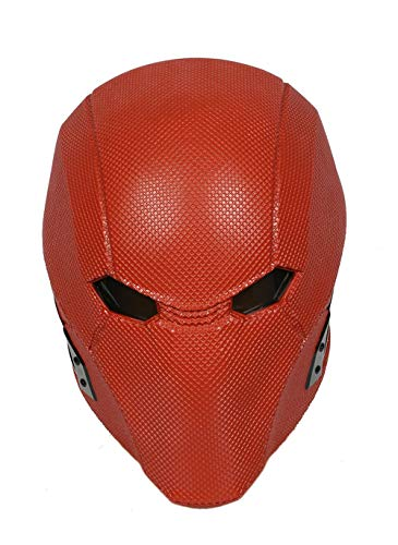 Wellgift Halloween Red Hood Maske Helm Cosplay Erwachsene Herren Roter Harz voller Kopf Spiel Fancy Dress Kostüm Zubehör (Red Hood Helm Kostüm)