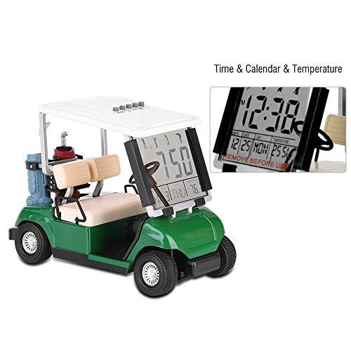 AYNEFY Kreativer Wecker,Mini Golf Cart Uhr Golf Cart Alarm Uhr Digitale Golfuhr Mini-Golfcart mit LCD-Uhr für Golffans Tolles Geschenk für Golfspieler-Rennandenken-Neuheits-Golf-Geschenke -