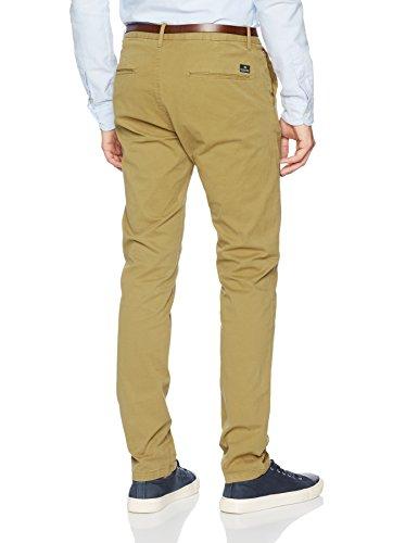 Scotch & Soda Herren Hose Nos Stuart-Slim Fit Cotton/Elastan Garment Dyed Chino Pant Braun (Walnut N1)