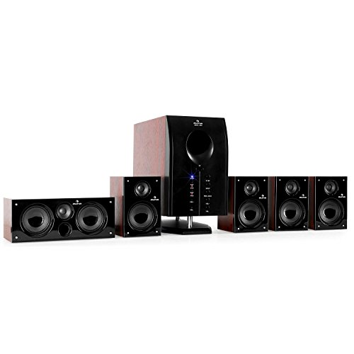 auna Areal 525 WD • Heimkinosystem • 5.1 Surround Sound System • 125 Watt RMS • Aktiv-Mono-Subwoofer • 13,5 cm (5,25