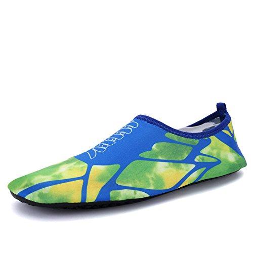 Xinyi (Aqua à l'eau Chaussures de plage de natation Séchage rapide Slip on Chaussures de yoga Chaussettes de peau pour Unisexe, Tissu, A14, XL39-40 A15