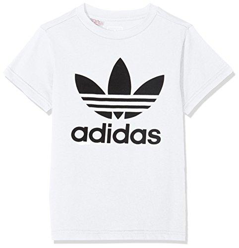 Adidas kinder J TRF Shirt, weiß (weiß / schwarz), 128 - Jungen Langarm-polo-shirt